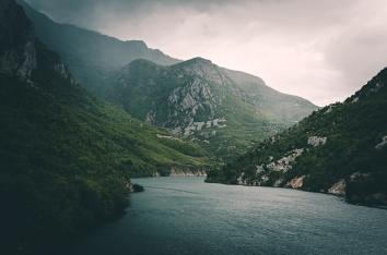 Lake Komani, Albania.